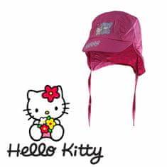 """SETINO Czapka dziewczęca """"Hello Kitty"""" - fuksja - 50 cm"""