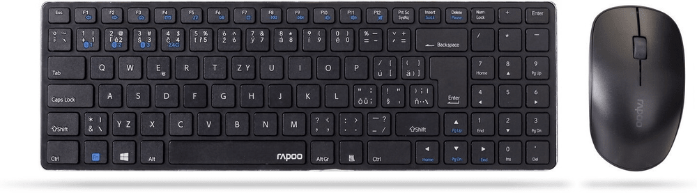 Rapoo 9300M, set klávesnice a myši