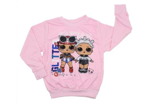 "SETINO Dekliška majica ""LOL"" - svetlo roza"