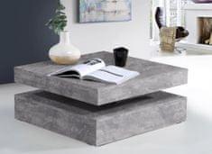 Nejlevnější nábytek Konferenční stolek ANAKIN, světle šedý beton, 5 let záruka