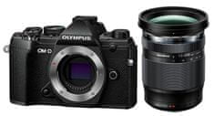 Olympus aparat fotograficzny kompaktowy E-M5 Mark III + 12-200 ED Black (V207090BE010)