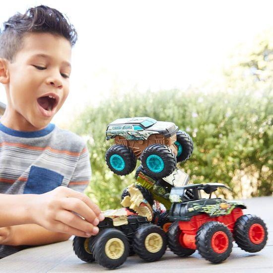 Hot Wheels Monster trucks veliki tovornjak Bone Shaker, zelen