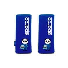 Sparco Návlek na bezpečnostný pás pre deti, farba modrá