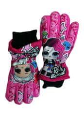 """SETINO Dekliške smučarske rokavice """"LOL"""" - roza - 9–10 let"""
