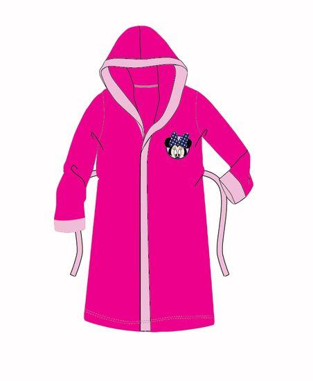 """SETINO Dívčí župan s kapucí """"Minnie Mouse"""" - tmavě růžová"""