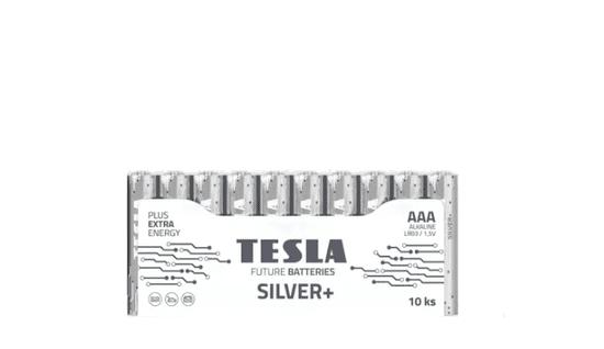 Tesla Batteries 1099137100 AAA SILVER+ Alkaline, LR03, FOIL/10ks