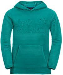 Jack Wolfskin gyerek pulóver MODESTO HOODY KIDS 116 zöld