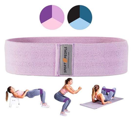 Sport2People tekstilna elastika za vadbo, M, barva sivke