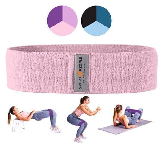 Sport2People tekstilna elastika za vadbo, S, barva flaminga