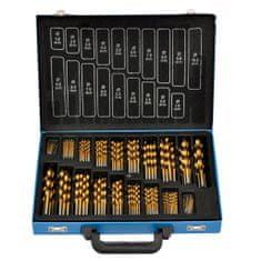 shumee 170 Delni Set Svedrov iz Titana v Kovinski Škatli HSS TI
