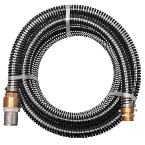 shumee Wąż ssący z mosiężnymi złączkami, 15 m, 25 mm, czarny