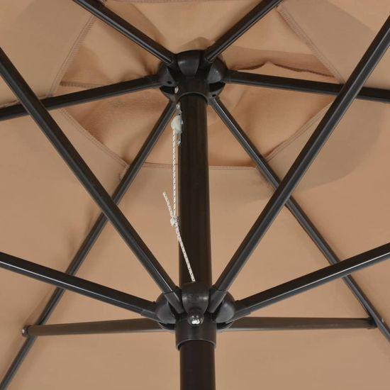 shumee Zunanji senčnik s kovinskim drogom 300 cm taupe barve