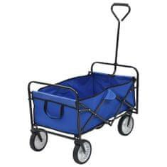 shumee Skládací ruční vozík ocelový modrý