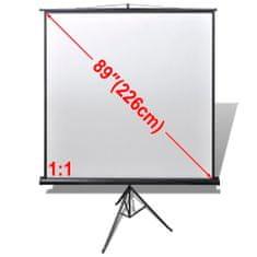 shumee Projekční plátno 160x160cm matná bílá výškově nastavitelný stojan