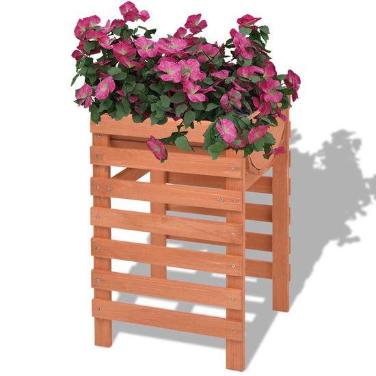 shumee Skrzynka na kwiaty drewniana 38x36x60 cm