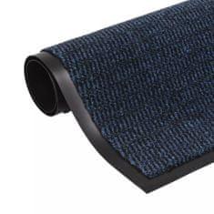 Protiprachová obdélníková rohožka všívaná 120x180 cm modrá