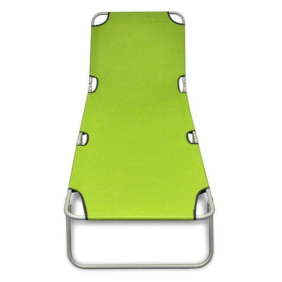 shumee Składany leżak, stal malowana proszkowo, zielony