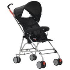 shumee Składany wózek spacerowy, czarny, stalowy
