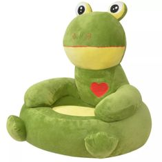 shumee Plyšové dětské křeslo žába zelená