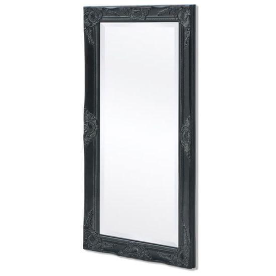 shumee Nástenné zrkadlo v barokovom štýle, 100x50 cm, čierne