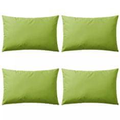 shumee Zunanje blazine 4 kosi 60x40 cm jabolčno zelene