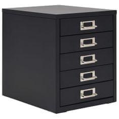 Petromila Kancelářská skříň s 5 zásuvkami 28 x 35 x 35 cm kovová černá