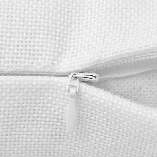 Vidaxl Povlaky na polštářek 4 ks, se vzhledem lnu bílé 40x40 cm