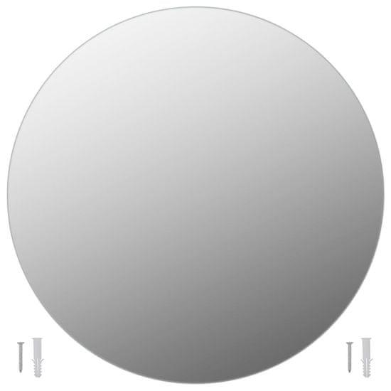 shumee Stensko ogledalo 2 kosa 60 cm okroglo steklo