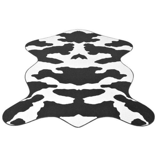 shumee Dywanik 150x220 cm bydlęca skórka w czarne łatki