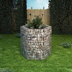 shumee Šesťhranný gabiónový vyvýšený záhon 100x90x100 cm