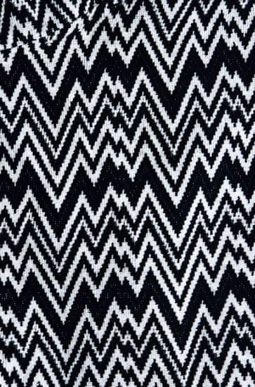 Missoni Home VANNI kopalni plašč s kapuco XL črno-bel