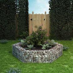 shumee Šesťhranný gabiónový vyvýšený záhon 200x173x40 cm