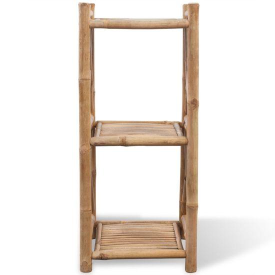 shumee 3 szintes szögletes bambusz polc
