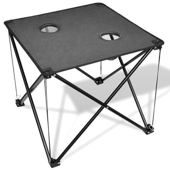 shumee Zložljiva mizica za kampiranje sive barve