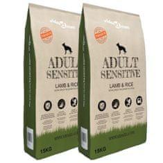 """shumee 2 db """"Adult Sensitive Lamb & Rice"""" prémium száraz kutyatáp 30 kg"""