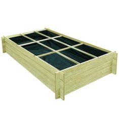 Vyvýšený zeleninový záhon impregnovaná borovice 197x100x40 cm