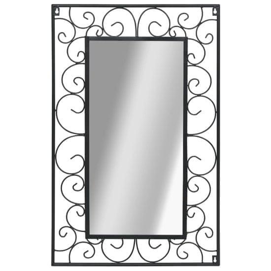 shumee téglalap alakú fekete falitükör 50 x 80 cm