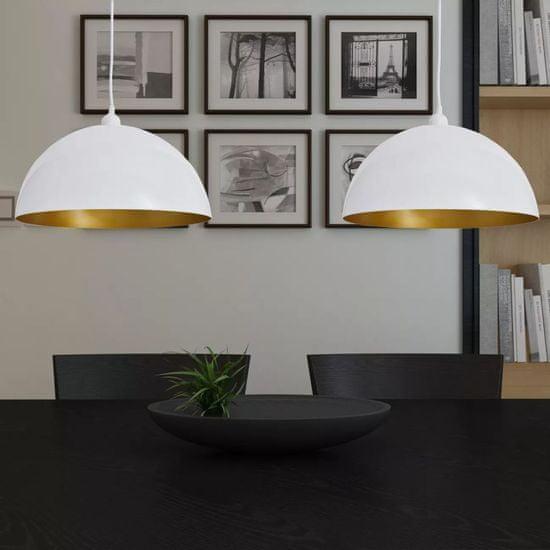 shumee Lampy sufitowe, 2 szt., regulowana długość, półokrągłe, białe
