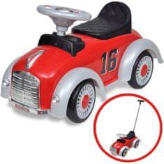 shumee Gyerek retró játék autó tolórúddal piros