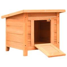 shumee Mačja hišica iz trdne borovine in lesa jelke 50x46x43,5 cm