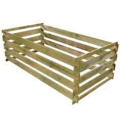 Vidaxl Laťkový kompostér impregnovaná borovice 160 x 80 x 58 cm
