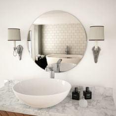 shumee Stensko ogledalo 60 cm okroglo steklo