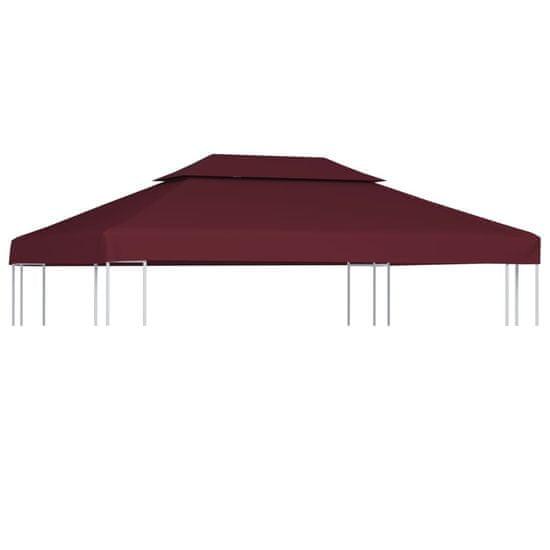 shumee Streha za paviljon 2-delna 310 g/m² 4x3 m bordo