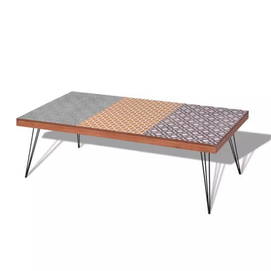 Vidaxl Konferenční stolek 120x60x38 cm hnědý