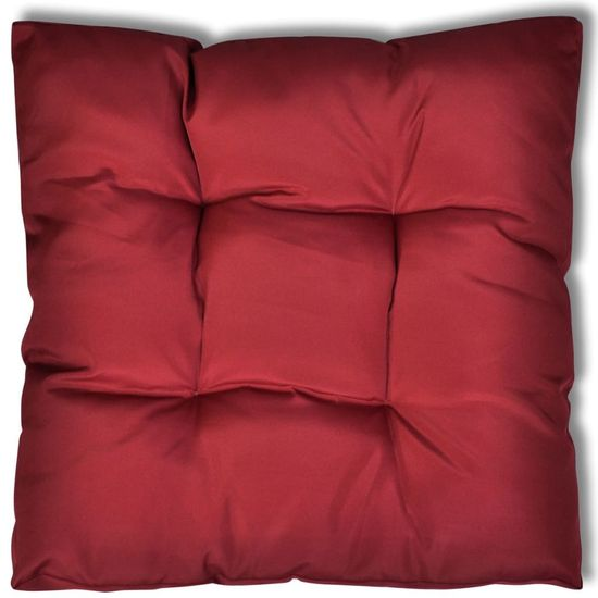 shumee Sedežna blazina 80 x 80 x 10 cm vinsko rdeče barve