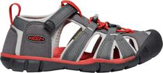 KEEN dětské sandály Seacamp II CNX Jr. 37 šedá/červená