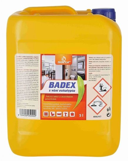 Alter SATUR BADEX tekutý dezinfekční prostředek s vůní eukalyptu 5 L