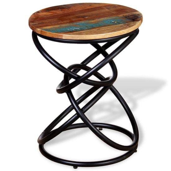 shumee Odstavna mizica iz trdnega predelanega lesa
