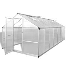 Vidaxl Skleník zpevněný hliník 10,53 m²