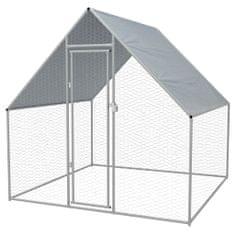 shumee Vonkajšia klietka pre sliepky, pozinkovaná oceľ, 2x2x1,92 m